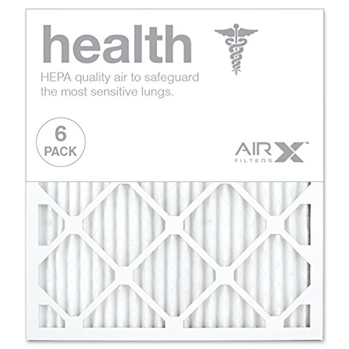 AIRx HEALTH 18x20x1 MERV 13 Pleated Air Filter - Made in the USA - Box of 6