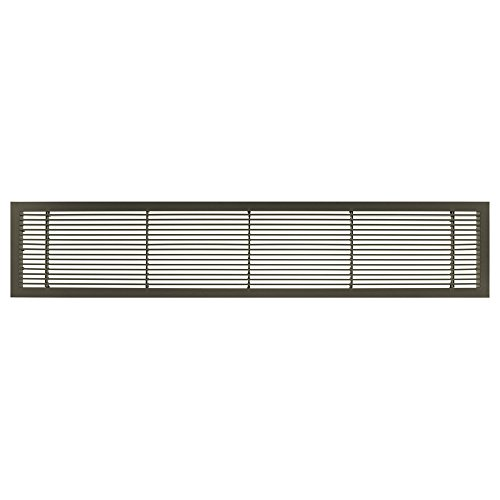 Architectural Grille 100041206 AG10 Series 4'' x 12'' Solid Aluminum Fixed Bar Supply/Return Air Vent Grille, Antique Bronze Finish by Architectural Grille