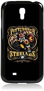 Steelers Art- Hard Black Plastic Snap - On Case-Galaxy s4 i9500 - Great Quality!