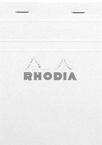 White Cover A6 Rhodia 80 Sheets No.13 Basics Grid Pad