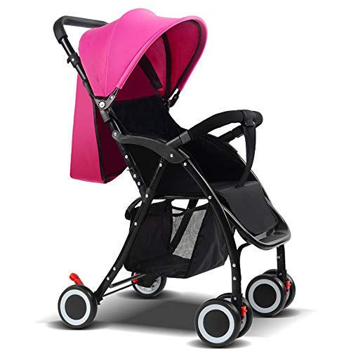 Stroller Bag for Air Travel Silver Cross, from Birth to 15 Kg Easy and Compact Folding Sport Stroller One Step Design for Opening and Folding Sport Pushchair, Pink (Silver Cross 3 In 1 Travel System)