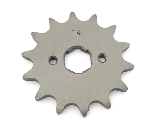 Front Sprocket 520-14T - Compatible with Honda CR125 XL200 XR200 XL250 Rebel 250