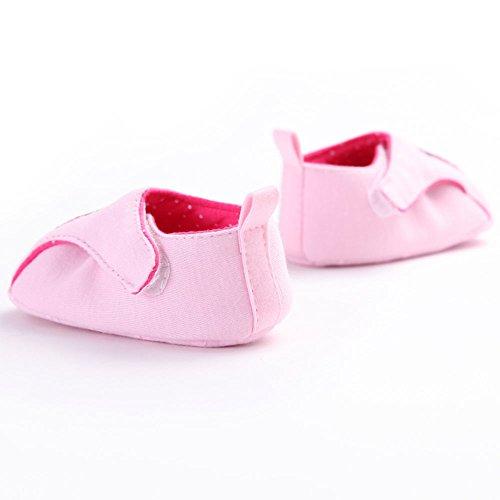 waylongplus Baby Infant Cute Pink cadybird Walking Soft Sole Cuna zapatos de Prewalker Talla:13(12-18 meses)