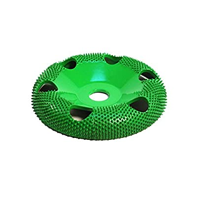 """4"""" Donut Wheel W/ Holes Round Face (Coarse Grit) 5/8"""" Bore"""