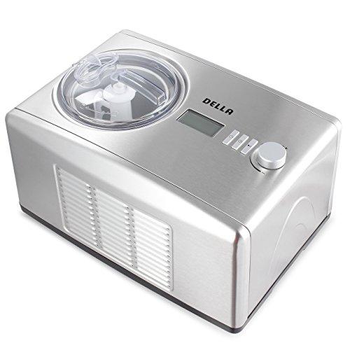 Della | 1.6Qt | Ice Cream Maker | Frozen Yogurt Sorbet Machine | Euro Gelato | LCD Digital Display | Stainless Steel by DELLA