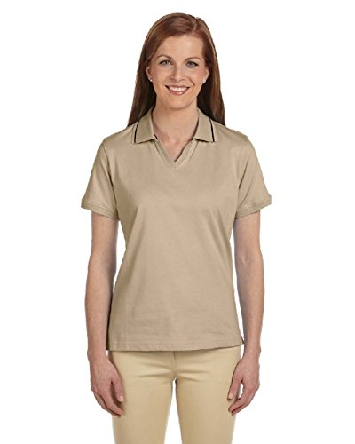 [Ladies' 5.9 oz. Cotton Jersey Short-Sleeve Polo with Tipping] (Arab Money Costume)
