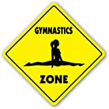 GYMNASTICS ZONE Sign novelty gift sport gym award trophy team funny gag gym