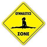 GYMNASTICS ZONE Sign novelty gift sport gym award trophy team funny gag gym