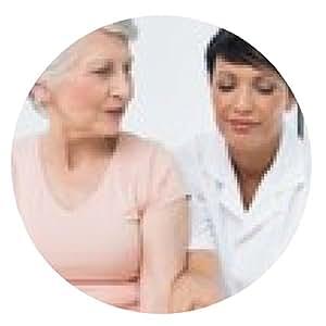 alfombrilla de ratón fisioterapeuta sexo femenino que examina un lado los pacientes de alto nivel - ronda - 20cm
