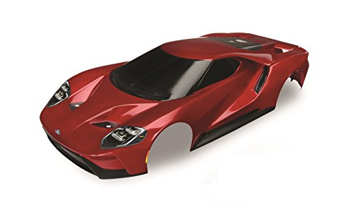 (Traxxas Red Painted Ford Gt Body (1: 10 Scale) Vehicle)