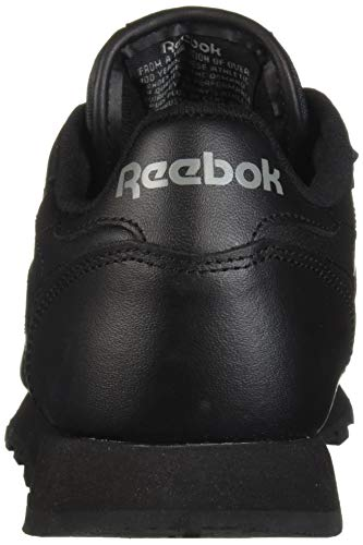 ded68ef3a9f89 Reebok Men's Classic Leather Sneaker, Black, 10.5 M