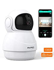 Wireless Security Camera 1080P WiFi IP - AKASO HD Baby/Pets Monitor with Two-Way Audio, Phone APP Remote Access, Motion Detect, SD Card/Cloud Storage, Panoramic Navigation,3D Positioning (P20)