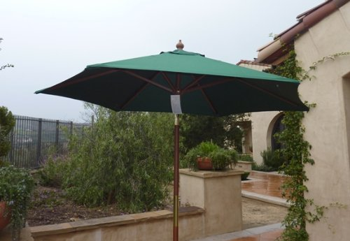 amazon com 7ft wooden market umbrella with tilt mechanism