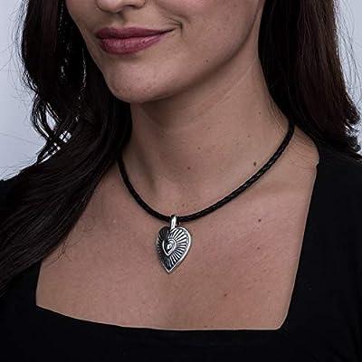 """.925 Sterling Silver 1-3/4"""" Heart and Sunburst Enhancer Pendant"""