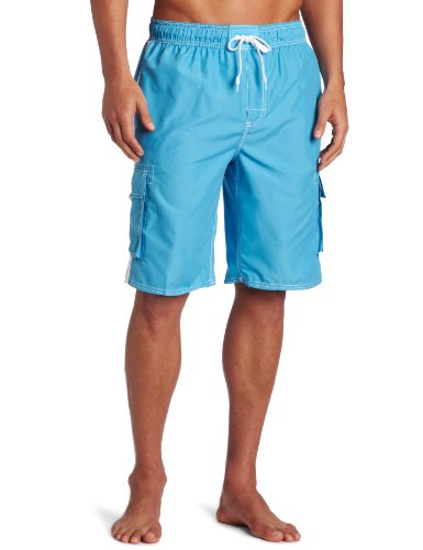 9' Fit Shorts - Kanu Surf Men's Barracuda Swim Trunks (Regular & Extended Sizes), Aqua, Medium