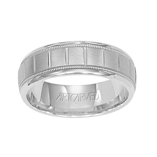 11-WV7268PD Palon Carved Palladium Ladies Wedding Band from ArtCarved
