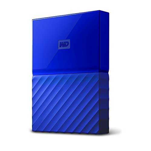 WD 1TB Blue My Passport  Portable External Hard Drive – USB 3.0 – WDBYNN0010BBL-WESN