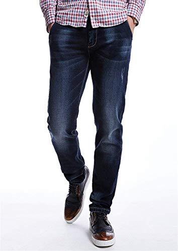E Ragazzi Vintage Fashion Pantaloni A Da Classiche In Jeans Denim Dunkelblau Casual Lunghi Elastico Uomo Gamba Dritta Y8Zzw