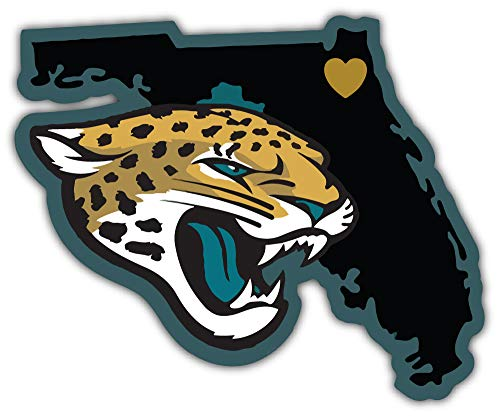 Sport Jacksonville Jaguars NFL Map Car Bumper Sticker Decal 5'' X 4'' (Furniture Outdoor Jacksonville)