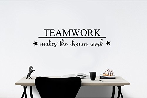 Simple Expressions Arts TEAMWORK makes the dream work (32x7) Office ...