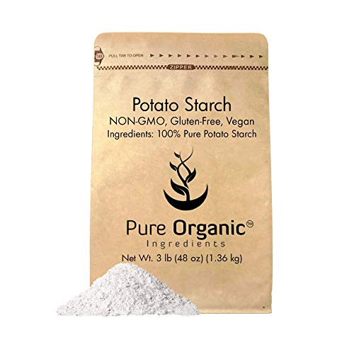 Potato Starch (3 lb.) by Pure Organic Ingredients, Resealable Bag, Gluten-Free, NON-GMO, All-Natural, Thickener For Sauces, Soup, Gravy, No Added Preservatives Or Artificial Ingredients
