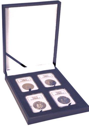 Leatherette Display Box – 4 NGC slabs