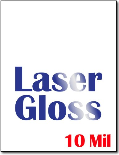 Heavyweight Laser Gloss Cardstock (Single Sided Gloss) - 50 (Best Cardstock Laser Printer)