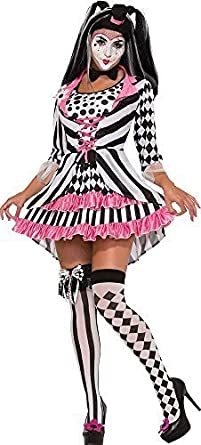Adulto Mujer Disfraz de Halloween Arlequín payaso Anillo Mistress ...