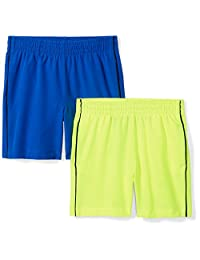 Spotted Zebra Amazon Brand Boys' Toddler & Kids 2-Pack Active Woven Shorts