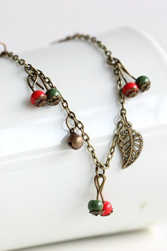 - Generic [24]_option_3_for_100_on sum_of lovely _antique_ceramic Ring foot_ chain jewelry _adjus watch women girls