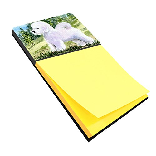 Bichon Frise Notepad - Caroline's Treasures SS8900SN Bichon Frise Refillable Sticky Note Holder or Postit Note Dispenser, 3.25 by 5.5