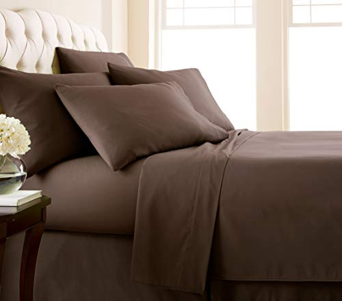- Southshore Fine Linens 6 Piece - Extra Deep Pocket Sheet Set - Chocolate Brown - Queen