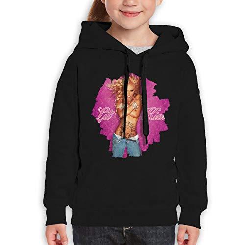 TticusC Lil' Kim The Notorious Kim Teenager Hoodies Sweatshirt for Boys and Girls Black XL