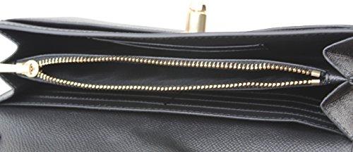 lock Bow Clutch Coach Turn Chain Wristlet Black Women's Crossbody xwCHHq7F0