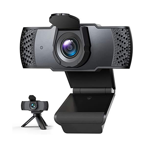 Webcam with Microphone for Desktop 1080P HD Computer Camera with Privacy Cover Shutter Tripod USB