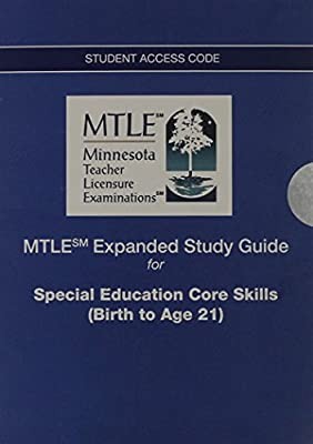 MTLE Expanded Study Guide -- Access Card -- for Special Education Core Skills (Birth to Age 21)
