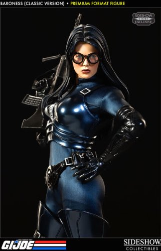 GI Joe Sideshow Collectibles Premium Format 1/4 Scale Statues Baroness [Classic Version] - Baroness Cobra Costumes