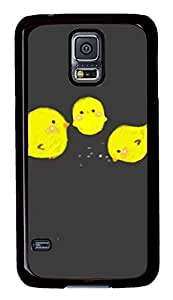 Lovely Three Chickens PC Black Hard Case Cover Skin For Samsung Galaxy S5 I9600