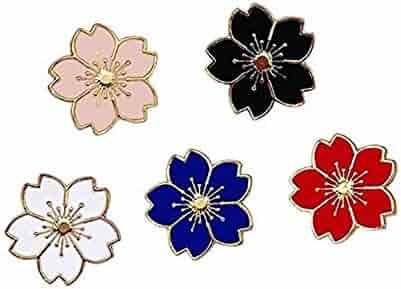 WAZZIT Round Metal Tie Tack Hat Lapel Pin Brooches Colorful Petals Lotus Art Design Banquet Badge Enamel Pins Trendy Accessory Jacket T-Shirt