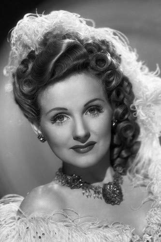 Constance Moore feathery outfit stunning head shot jewelry 11x17 Mini Poster
