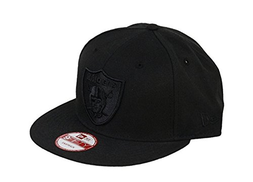 New Era NFL Oakland Raiders All Black Shield Logo Snapback Cap 9Fifty NewEra]()