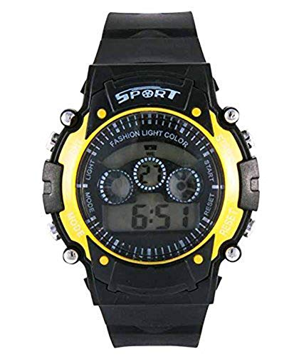 SS S S Traders   Kids Seven Colours with Seven changable Led Light   Digital Watch  Yellow7colour7light