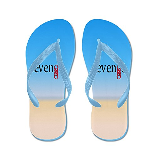 CafePress Double Infinity Revenge On Beach - Flip Flops, Funny Thong Sandals, Beach Sandals Caribbean Blue