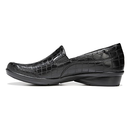 Croco Channing Flats Black Naturalizer Printed Loafer wWYXAcWdqO