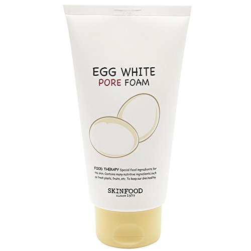 Skinfood Egg White Foam Cleanser - Pore Tightener and Minimizer - For Oily and Sensitive Skin, 8.45 Fluid Ounce