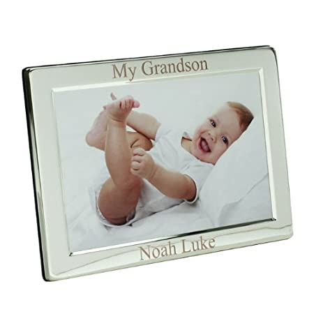 Personalised Silver Plated My Grandson Photo Frame, 8\