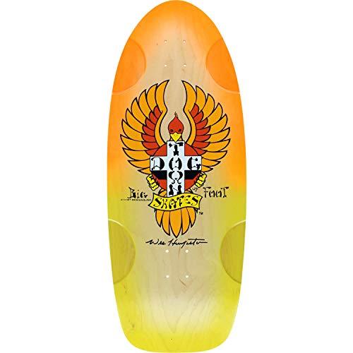 Dogtown Skateboards OG Classic Bigfoot Natural / Orange / Yellow Skateboard Deck - 11.75
