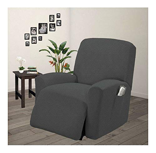 Pique Stretch Fit Furniture Chair Recliner Lazy Boy Cover Slipcover Gray/Grey