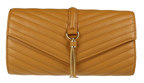 Quilted HandBags Girly Tan Tassel Bag HandBags Clutch Girly Quilted 1AWw7qHnWF