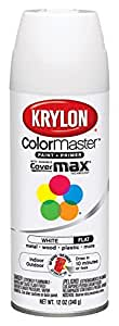 Krylon K05151202 Flat White Interior and Exterior Decorator Paint - 12 oz. Aerosol
